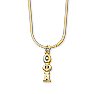 10K Lavaliere w/Gold-Filled Snake Chain