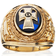 Official Heavy Weight Ring with Sapphire