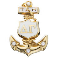 Plain Badge with 4 Pearls