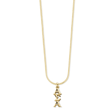 10K Lavaliere and Gold Filled Snake Chain