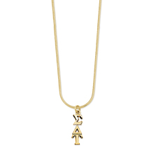 10K Lavaliere and Gold-Filled Snake Chain