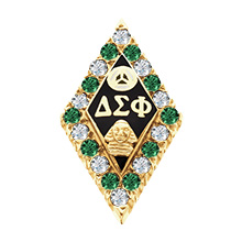 Alternating CZ and Emerald Badge