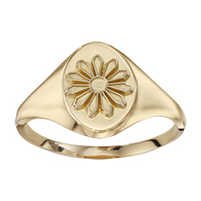 Signet Ring with Mini Marguerite