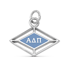 Enameled Logo Charm with Greek Letters