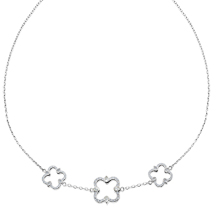 Quatrefoil Station Necklace