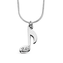Musical Note Charm with Snake Chain