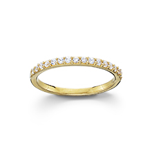 Stackable CZ Band Ring