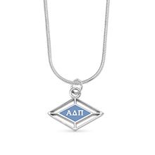 Enameled Logo with Greek Letters Charm with Snake Chain