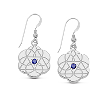 Solid Tricon Earrings with Sapphires*