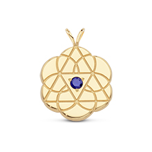 Tricon Solid Pendant with Sapphire*
