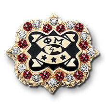 2020 Crown CZ and Garnet Convention Badge