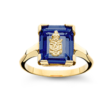 Crest Cushion Ring