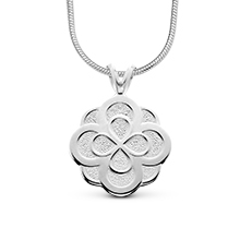 Infinity Rose Charm w/ Snake Chain