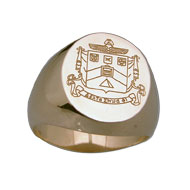 Incised Coat of Arms Ring w/o Oxidation