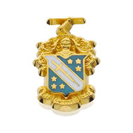 Large Crest Button w/Enamel