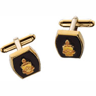 Barrel Onyx Crest Cufflinks