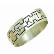 Monogram Band Ring