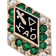Large Emerald with Pearl Points Badge