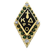 Standard Crown Emerald w/ Diamond Points Badge