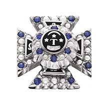 Crown Pearl Badge w/ *Sapphire Points