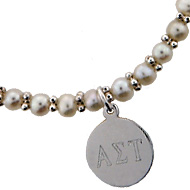 Mini Pearl Bracelet with Disc