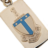Ingot Charm with Enameled Crest
