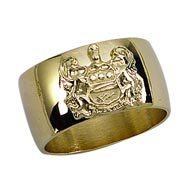 Crested Band Ring