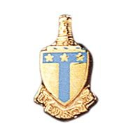 Enameled Crest Lapel Pin