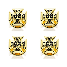 Formal Shirt Stud Set (of 4) w/Badge Replica