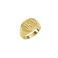 Oval Raised Letter Ring
