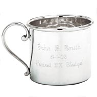 Silver Plated Sigma Chi Baby Cup
