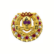 Alternating Crown Pearl and Ruby Badge