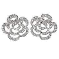 Silhouette Rose Earrings