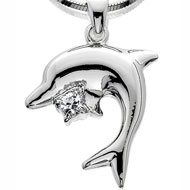 Whimsical Dolphin Necklace