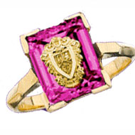 *Pink Sapphire Cushion Ring
