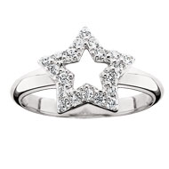 Cubic Zirconia Star Ring