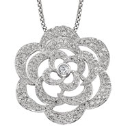 Silhouette Rose Necklace