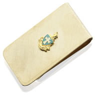 Money Clip with Enameled Crest