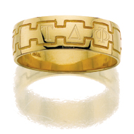 Greek Monogram Band Ring