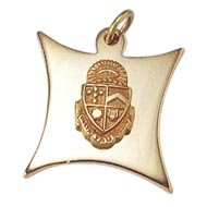 Badge Shaped Charm w/Crest